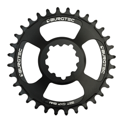 Image: BURGTEC BURGTEC THICK-THIN CHAINRING SRAM 6MM NON BOOST DIRECT MOUNT BLACK