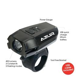 Image: AZUR CAMEO 400 LUMEN USB FRONT LIGHT