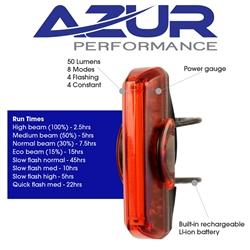 Image: AZUR USB XT 50 LUMEN TAIL LIGHT