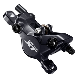 Image: SHIMANO XT RACE BR-M8100 DISC BRAKE CALIPER W/RESIN PAD NO FIN (G03A)