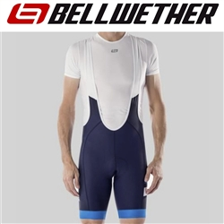 Image: BELLWETHER EDGE BIB SHORTS NAVY / CYAN SMALL