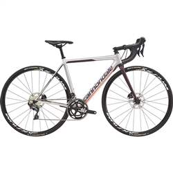 Image: CANNONDALE SUPERSIX EVO DISC LADIES ULTEGRA 2019 SILVER / CHARCOAL 50 CM