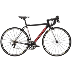 Image: CANNONDALE CAAD12 105 2018 LADIES NEARLY BLACK / STRAWBERRY / CASHMERE 48 CM