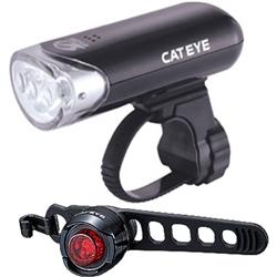 Image: CATEYE HL-EL135 & ORB LD160 LIGHTSET BLACK