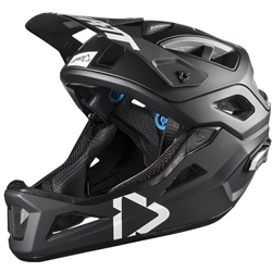 Image: LEATT DBX 3.0 ENDURO HELMET BLACK / WHITE LARGE