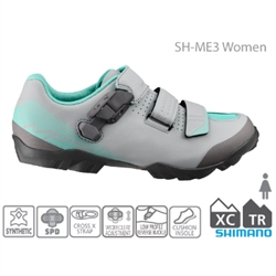 Image: SHIMANO SH-ME300 LADIES SPD SHOES GREY / MINT 38