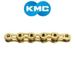 "Image: KMC KMC CHAIN K1SL SINGLE SPEED 112 LINKS GOLD 1/8"""