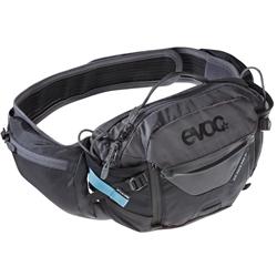 Image: EVOC HIP PACK PRO 3 LTR WITH 1.5L BLADDER BLACK / CARBON / GREY