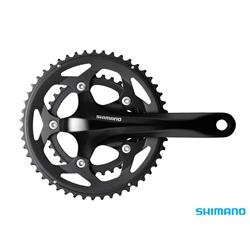 Image: SHIMANO FC-RS400 CRANKSET 50-34 BLACK