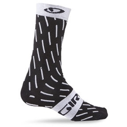 Image: GIRO COMP RACER HIGH RISE SOCKS 6 INCH ECHELON BLACK / WHITE SMALL (36-39 EU)