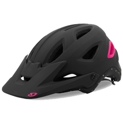 Image: GIRO MONTARA MIPS HELMET MATT BLACK / BRIGHT PINK MEDIUM
