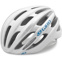 Image: GIRO SAGA HELMET LADIES WHITE / BLUE SMALL