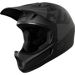 Image: FOX HEAD RAMPAGE RACE LANDI HELMET BLACK MEDIUM