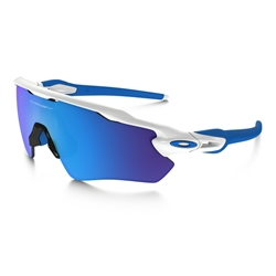 Image: OAKLEY RADAR EV XS PATH POLISHED WHITE - SAPPHIRE IRIDIUM