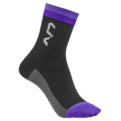 Image: LIV LIV RACE DAY SOCKS BLACK / PURPLE MD/LG