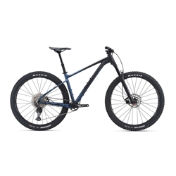 Image: GIANT FATHOM 29 2 WITH CREST FORK 2021 BLACK / BLUE ASHES SMALL