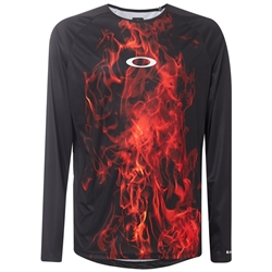 Image: OAKLEY MTB LONG SLEEVE TECH TEE FLAMES XL