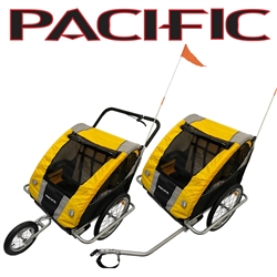 Image: PACIFIC 2 IN 1 DOUBLE TRAILER/STROLLER 2 CHILD