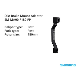 Image: SHIMANO SM-MA90-F180-PP ADAPTER 180MM CALIPER POST MOUNT