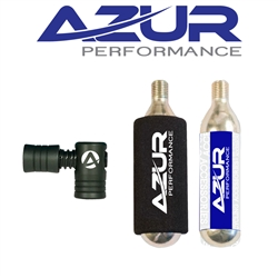 Image: AZUR EZY AIR SET CO2 REGULATOR SET 2 16G CARTRIDGES