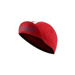 Image: CHAPEAU! COTTON CYCLE CAP GROSGRAIN RED ONE SIZE