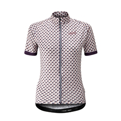 Image: CHAPEAU! MADELEINE TILE LADIES JERSEY PURPLE MEDIUM