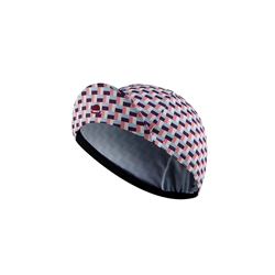 Image: CHAPEAU! LIGHTWEIGHT CYCLE CAP TILE PRINT LADIES