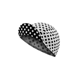 Image: CHAPEAU! LIGHTWEIGHT CYCLE CAP POLKA DOT WHITE ONE SIZE