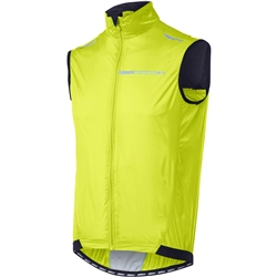 Image: MADISON SPORTIVE WINDPROOF MENS GILET HI-VIS YELLOW SMALL