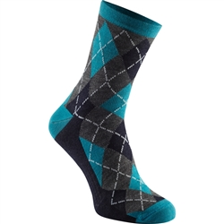 Image: MADISON ASSYNT MERINO ARGYLE LONG SOCKS