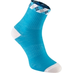 Image: MADISON ASSYNT MERINO MID SOCK LADIES AQUA BLUE / WHITE MEDIUM (40-42 EU)