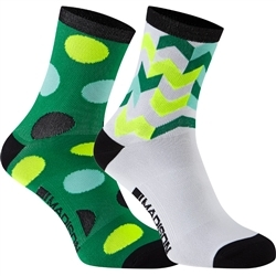 Image: MADISON SPORTIVE MID SOCK TWIN PACK LADIES