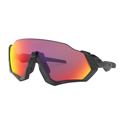 Image: OAKLEY FLIGHT JACKET POLISHED BLACK - PRIZM ROAD