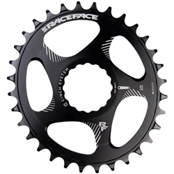 Image: RACEFACE CHAINRING OVAL CINCH DIRECT MOUNT BLACK