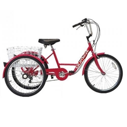 Image: GOMIER TRICYCLE 24 INCH LOW 6 SPEED RED
